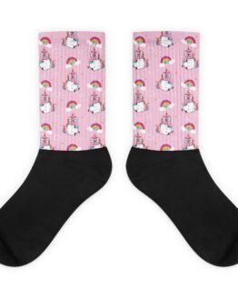 medias con diseño personalizables coloridas medias para hombre o mujer rosadas