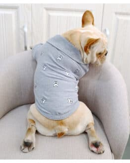 ropa para perritos camisetas para perros pequeños polo gris estampada