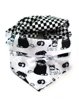 pañoleta para perro bulldog friendes bandana doble faz antifluidos scarf for dogs