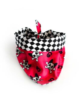 pañoleta para perros calavera skull dog amarillo rock and roll bandana