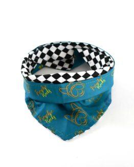 pañoleta verde para perros, gordogs accesorio para mascotas doble faz antifluidos bandana scarf for dog
