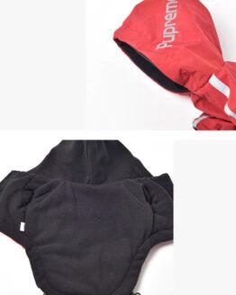 Abrigo termico para perros pequeños gordogs chaqueta roja para perros