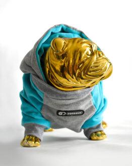 Saco para perro con capota tipo peluche furry hooded sweater buldog francés todas las tallas