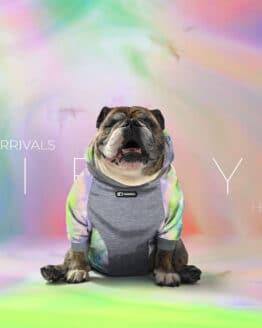 Saco desteñido para perro marca gordogs ropa para bulldogs tie dye